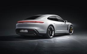 Picture Porsche, rear view, Turbo S, 2020, Taycan