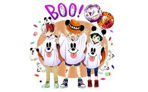 Picture children, Halloween, costumes, Boku no Hero Academy, My Hero Academia, Midori Isuku, Todoroki Shoto, My …