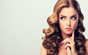 Picture girl, face, surprise, makeup, gesture, Sofia Zhuravets'