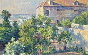 Picture picture, the urban landscape, 1895, Maximilien Luce, Maximilien Luce, Montmartre. The House Of Suzanne Valadon