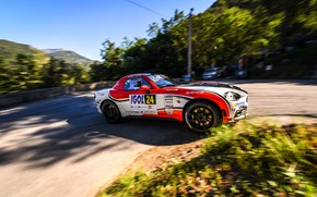 Picture movement, turn, rally, 2018, Abarth, 124 Rally