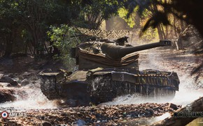 Picture WoT, World of Tanks, Wargaming, AMX 50 B, game art