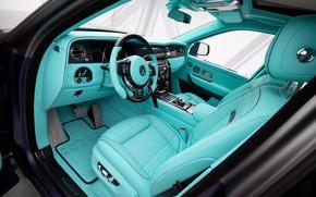 Picture design, interior, Rolls-Royce, luxury, 2020, Cullinan, Rolls-Royce Cullinan, Mansory Coastline