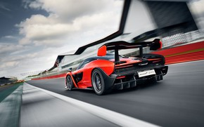 Picture McLaren, speed, supercar, 2018, Senna, Delta Red