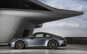 Picture coupe, 911, Porsche, profile, Carrera 4S, 992, 2019