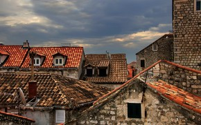 Picture roof, the city, home
