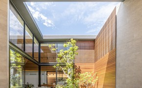 Picture the sky, design, plants, patio, The Roof House
