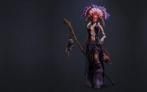 Picture art, shaman, Shaman, redering, Maria Alexeenko