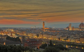 Picture Italy, panorama, Florence