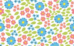 Picture flowers, vector, Beautiful, flowers, pattern