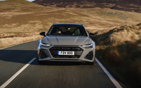Picture road, Audi, markup, universal, RS 6, 2020, 2019, before, V8 Twin-Turbo, RS6 Avant, UK-version