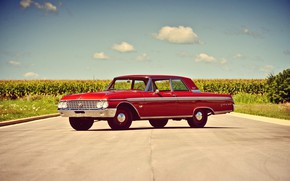 Picture Ford, Red, Landscape, Old