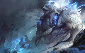 Picture being, beast, League Of Legends, League Of Legends, Volibear