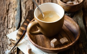 Picture paper, table, pen, Board, spoon, Cup, sugar, drink, cappuccino, saucer, bokeh