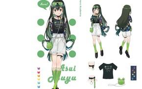 Picture girl, white background, Boku no Hero Academy, My hero Academy, Asui Tsu