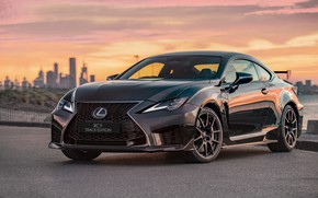 Picture sunset, the evening, Lexus, Track Edition, RC F, 2019