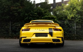 Picture yellow, coupe, 911, Porsche, 991, feed, Manhart, 911 Turbo S, 2020, 991.2, 850 л.с., TR …