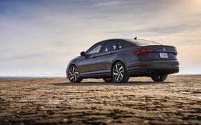Picture Volkswagen, back, Jetta, sedan, side, GLI, 2019