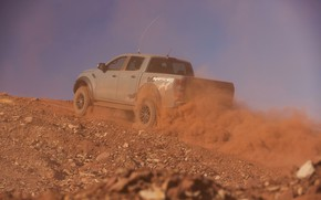 Picture grey, Ford, dust, Raptor, pickup, the rise, 2018, Ranger