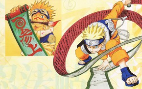 Picture Naruto, Naruto, brush, scroll, Uzumaki Naruto