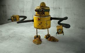 Picture robot, robot, render, render, cinema4d, c4d, modeling, octanrender