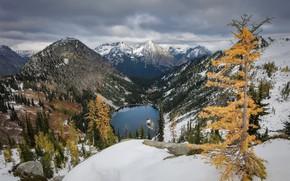 Picture autumn, mountains, United States, Washington, Gilbert