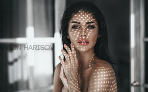 Picture look, model, portrait, makeup, brunette, hairstyle, beauty, Pauline, Anton Harisov, Anton Kharisov