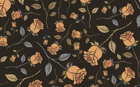 Picture flowers, background, roses, brown, buds