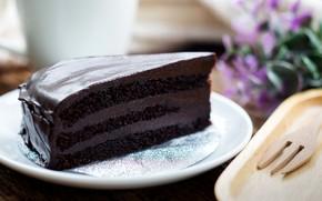 Picture food, plate, cake, cake, cream, dessert, chocolate