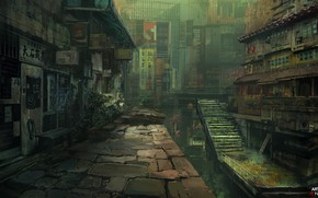 Picture the city, fantasy, abandoned