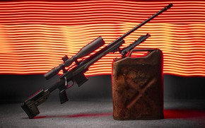 Picture weapons, background, canister, sniper rifle
