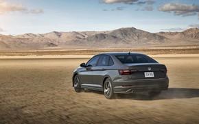 Picture mountains, Volkswagen, Jetta, sedan, GLI, 2019