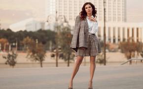 Picture girl, pose, style, costume, Apollinarius Barinova