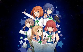Picture Asteroid in Love, Mira Konohata, Mari Morino, Mai Inose, Ao Manaka, Mikage Sakurai