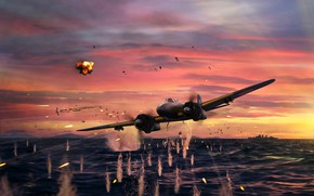 Picture Nakajima, The second World war, The Imperial Japanese Navy, Multi-Role Fighter, J1N Gekko, J1N1