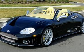 Picture black, 2006, Roadster, Spyker, exterior, sports car, Spyker C8 Spyder