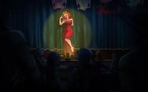 Picture Girl, Figure, Singer, Fallout, Art, Art, Fallout New Vegas, New Vegas
