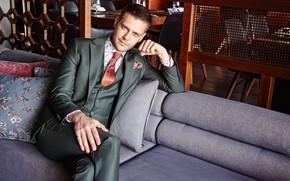Picture look, pose, costume, male, beautiful, Milos Bikovich