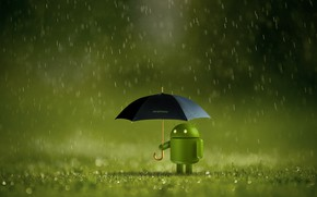 Picture robot, android, battery