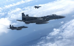 Picture Eagle, American, UNITED STATES AIR FORCE, the fourth generation, McDonnell Douglas, F-15C, superiority in the …