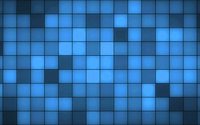 Picture blue, background, squares, texture, figure, blue, fon, squares