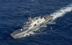 "Picture US NAVY, MH-60R Seahawk, LCS-3, USS Fort Worth, Type ""Freedom"", The littoral combat ship"