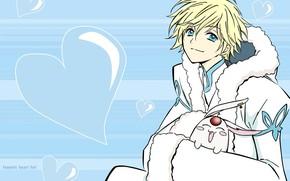 Picture anime, art, hearts, guy, animal, Tsubasa Reservoir Chronicles