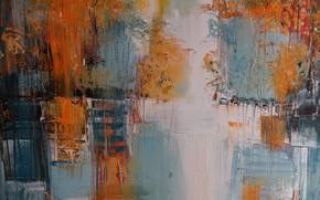 Picture line, paint, spot, canvas, strokes