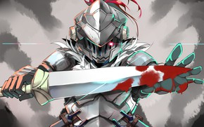 Picture sword, armor, knight, Goblin Slayer, The killer of goblins