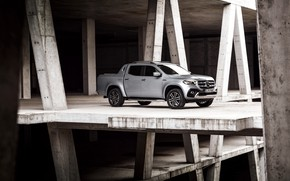 Picture Mercedes-Benz, structure, pickup, 2018, X-Class, gray-silver