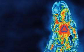Picture background, silhouette, alien, Predator, Thriller, action, horror, radiation, The Predator, infrared