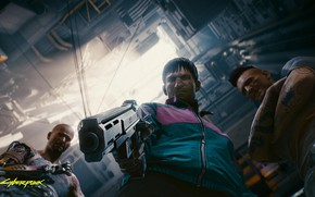 Picture The game, Gun, Cyberpunk 2077, Cyberpunk, Screenshot