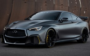 Picture car, machine, tuning, Prototype, Infinity, side, tuning, Matt, sports car, Infiniti Project Black S Prototype, …