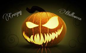 Picture monster, pumpkin, Halloween